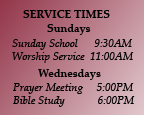 Spring Street Baptist Church service times